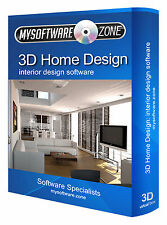 3D Home Office Interior Design Designer 2D Planning Software Program CAD CD-ROM