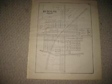 ANTIQUE 1912 RUDOLPH LIBERTY TOWNSHIP WOOD COUNTY OHIO MAP LAND OWNERS MIDDLETON
