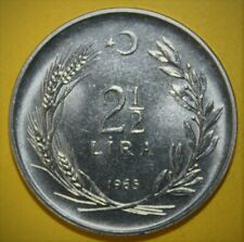 Turkey 2-1/2 Lira 1965 Brilliant Uncirculated Coin - Standing Figure - Flawless