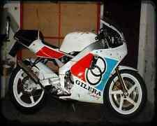 GILERA Sp01 125 A4 Imprimé Photo moto Vintage Aged