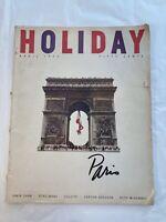 APRIL 1953 - HOLIDAY MAGAZINE - PARIS ISSUE - TRAVEL PHOTOS - STORIES - COLETTE