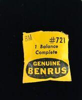 Benrus BM Balance Complete #721 Vintage Watch Parts NOS
