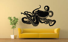 Wall Vinyl Sticker Decals Mural Room Design Art Octopus Ocean Fish Sea bo720