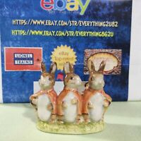 Beatrix Potter Flopsy, Mopsy and CottonTail  gold Oval stamp BESWICK ENGLAND #2