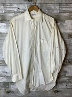 Newcrest Sanforized Cotton Workshirt White Vintage 1950s Button Down Shirt M