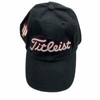 IU Indiana Hoosiers Titleist Adjustable Baseball Hat Golf Cap '47 Brand EUC Blk