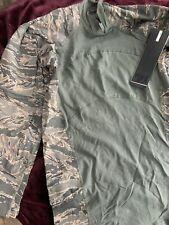Nwt Men's Airman Battle Military Camo Long Sleeve Shirt Sz M