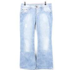 ESPRIT Jeans Bootcut PLAY Hellblau Nieten Gr. W30 L34