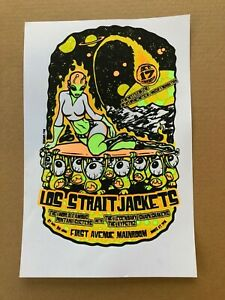 Los Straight Jackets 2003 Alien Screenprint First Avenue Mainroom Poster