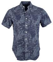 Ralph Lauren Men's Big and Tall Koi Fish Short Sleeve Shirt-P-3LT