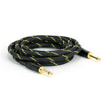 """6FT 6.35mm 1/4"""" Guitar AMP Instrument Patch JACK Male Lead Cable Cord Nylon"""