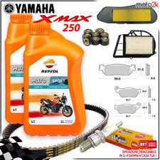 KIT TAGLIANDO YAMAHA X-MAX 250 2005 2006 2007 XMAX OLIO PASTIGLIE CINGHIA RULLI