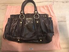 MIUMIU Carf Leather Brown Handbag Shoulder Bag----EXCELLENT CONDITION
