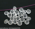 200PCS Wholesale Lots Clear Crystal Glass Faceted Rondelle Beads 4mm GW