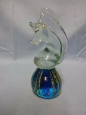 """Vintage Collectable Mdina Glass - 6.25"""" Seahorse Paperweight"""