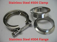 """2"""" Inch Turbo Exhaust Down Pipe Stainless Steel #304 V-Band Clamp with 2Flange"""