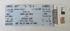 2008 TAMPA BAY RAYS VS CHICAGO CUBS TICKET STUB TROPICANA FIELD 6-18