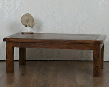 Valencia Coffee Table Dark Solid Sheesham in Rosewood