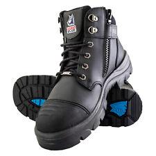 Steel Blue Steel Toe Safety Work Boots, Parkes Zip Black, Size 10, 812968M