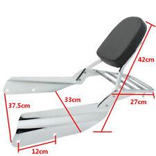 Chrome Sissy Bar Backrest with Luggage Rack for Honda VTX1300 VTX1800 Models