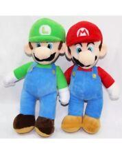 "2PCS 2 Piece Set 10"" Super Mario Plush LUIGI & MARIO Doll Stuffed Animal Toy Lot"