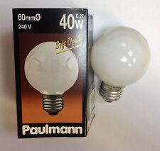 rarité Paulmann globe E27 40W G60 240V souple opale lampe ARTICLE numéro 103.40