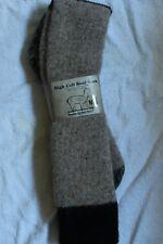 "Alpaca ""High Calf"" Boot Sock  (Made in USA) Size Medium Lt. Brown"