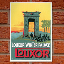 Vintage Travel Poster - Louxor Winter Palace Luxor Egypt- A4