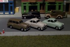 3 Old Era Automobile Cars 40s 50s  N Scale Vehicles #8124