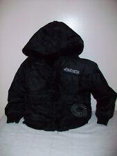 Boys AKADEMIKS Heavy Weight Full Zip Black Winter Coat