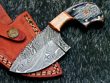 "NEW CUSTOM HAND FORGED DAMASCUS 6.0"" SKINNING KNIFE - HARD WOOD - WD-5730"