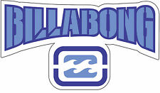 "Billabong  vinyl  wall sticker decal small 5.5"" x 3.2"""