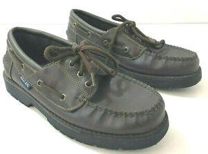 BUGLEBOY Mens 6M Boat Shoes Brown Faux Leather 3 Eye