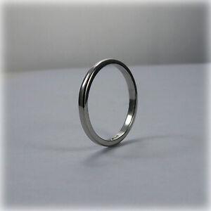 Small Vintage Platinum Wedding Ring