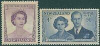 New Zealand 1953 SG721-722 Royal Visit set MNH