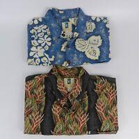 Lot of 2 Kahala Aloha Camp S/S Hawaiian Shirt Mens Size Large EUC