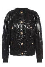 BALMAIN BLACK QUILTED BOMBER JACKET SIZE FR38 UK10 US4-6 ORIGINAL PRICE £2319.00