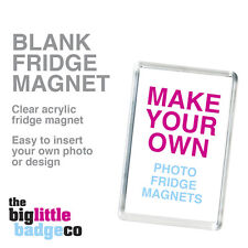 BLANK FRIDGE MAGNET * ACRYLIC 70mm x 45mm * Insert your own photo or logo