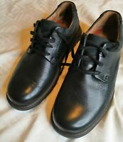 Clarks Unstructured Men's 9 Black Leather Oxford Shoes
