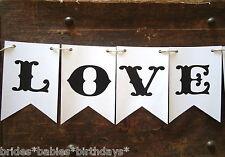 BUNTING FLAGS LOVE BANNER SHABBY VINTAGE WEDDING PHOTO PROP Birthday K
