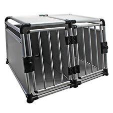 Hunde Transportbox groß Hund Kennel MDF Käfig 2 Tür Reise Trennwand Hundebox