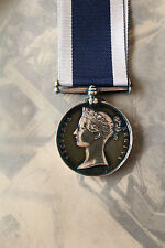 NAVAL MILITARY ROYAL NAVY LONG SERVICE GOOD CONDUCT MEDAL LSGC VICTORIA BUST