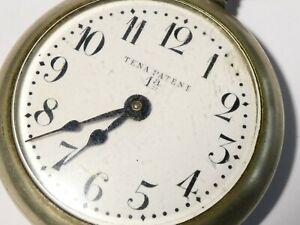 1924 Rosskopf Tena Patent Pocket Watch Enamel Dial & Spanish Receipt #PE70