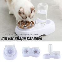 15 Degrees Incline Oblique Cat Ears Cat Bowl Drinking Eating Feeding