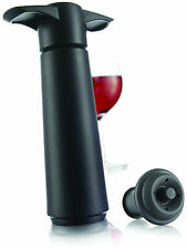 Vacu Vin Black Vacuum Wine Saver Preserver Pump with free Stopper 854460