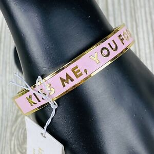 Kate Spade Bracelet Kiss Me You Fool Love At First Sight Pink Gold (Read Desc.)