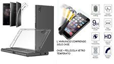 Custodia per Modelli SONY XPERIA COVER gel TPU case + PELLICOLA vetro TEMPERATO