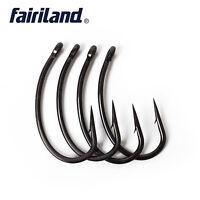 100pcs TFSH-G Fishing Hooks with Barbed 2# 4# 6# 8# 10# TEFLON Coated Carp Hook