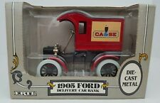 ERTL 1905 Ford Case Delivery Car Locking Coin Bank Die Cast Metal 1/25 Scale MIB