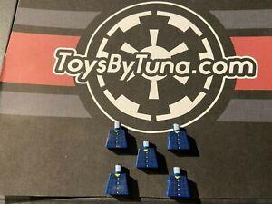 5 LEGO Dark Blue Torsos with Red Plaid Button Shirt No arms and hands